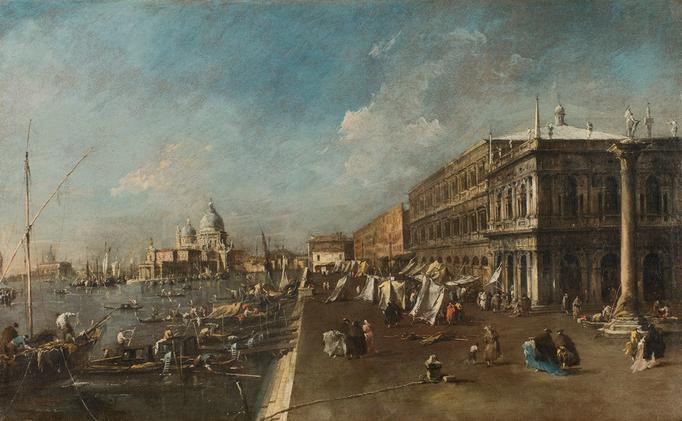 """Mostra: """"Canaletto incontra Guardi. Vedute veneziane a confronto: il Molo verso la Basilica della Salute"""""""