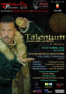 """Tutto pronto per la quinta edizione di """"Talentum Il premio delle eccellenze"""" (talentum manifesto 212x300)"""